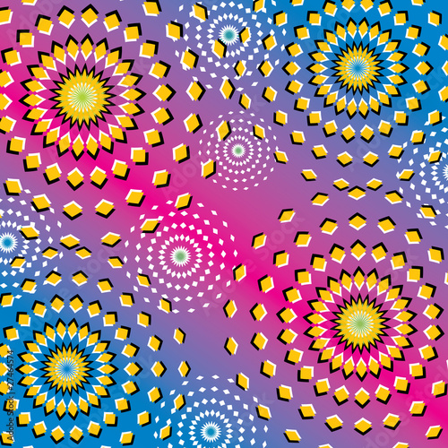 Riotous Ripples  (motion illusion)