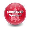 """Esfera brillante con texto """"CHRISTMAS SPECIAL!"""""""