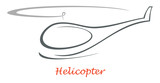 Helicopter - vector icon