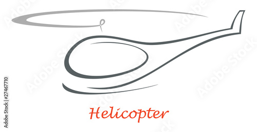 Helicopter - vector icon - 27467710