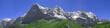 Leinwandbild Motiv Alpenpanorama Eiger, Mönch, Jungfrau Ausschnitt