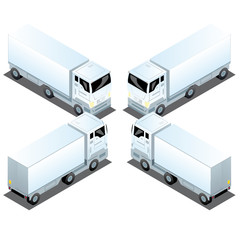 Camions Routiers Blocus 3D Logistique