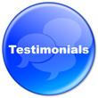 TESTIMONIALS Button (customer experience satisfaction feedback)
