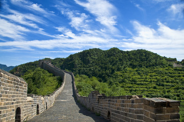 The Great Wall of China on a beautiful day