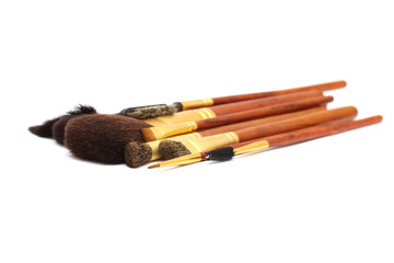 makeup brushes isolated
