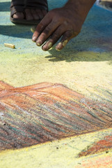 pavement-artist-draw
