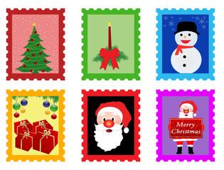 Christmas post stamps