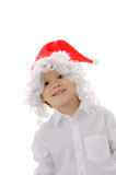 child in a hat santa claus