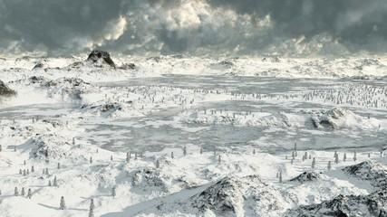 Icy Mountain Lakes 2