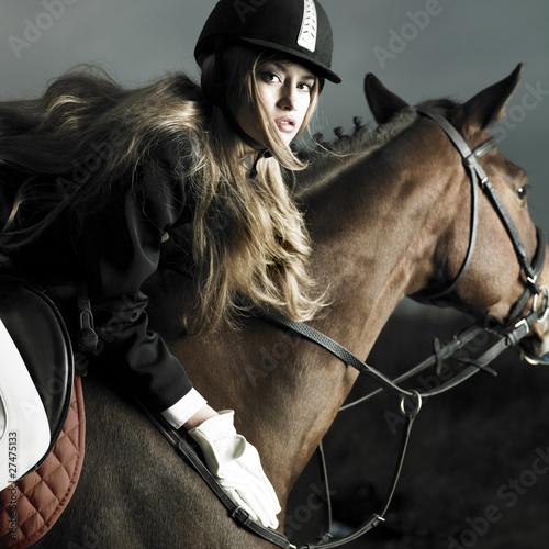 Fototapeten,tier,mädchen,pferd,frau