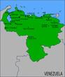 Carte des Villes Principales du Vénézuela