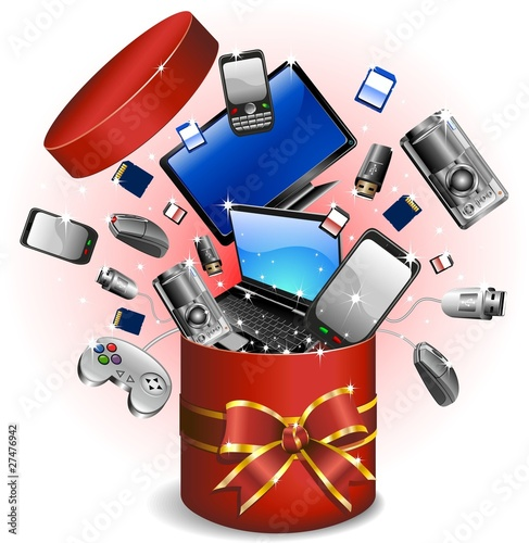 Regalo Dono Tecnologia-Technological Gifts-Vector