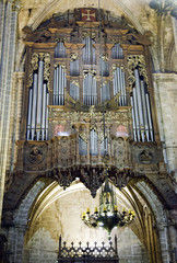 Inside the Cathedral of Santa Eulalia in Barcelona's Barri Gotic