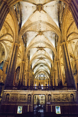 Inside the Cathedral of Santa Eulalia in Barcelona's Barri Gotic