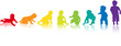 baby silhouette regenbogen