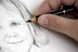 Fototapety Portraitzeichnung