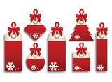 Fototapety Winter Set of Sales Tags
