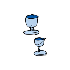 drawing of goblets