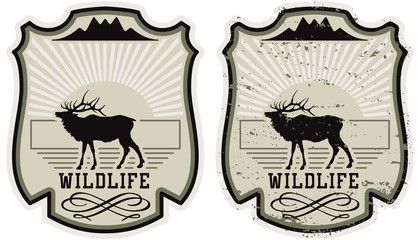 Wildlife park badge