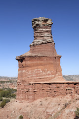 The Light House Formation in Palo Duro Canyon.