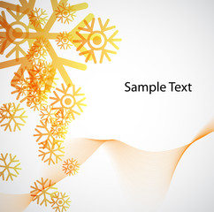 Background with snowflakes. Abstract colorful background. Vector