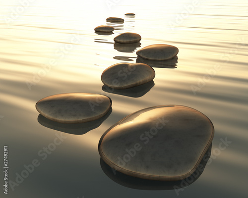 Fototapeta step stones