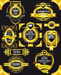 golden vintage black labels