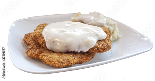 chicken fried steak and gravy
