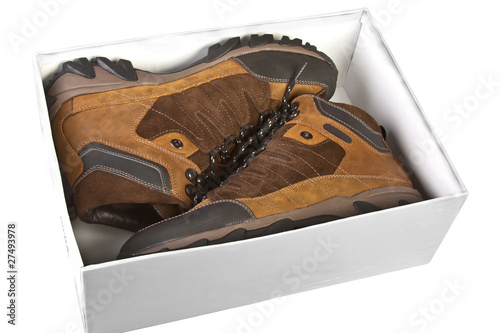 men's shoes in a box