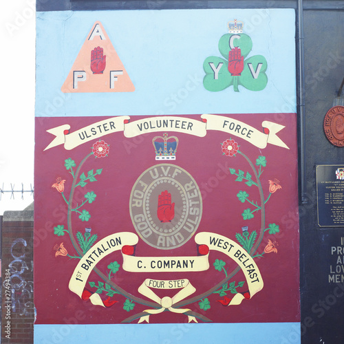 political mural painting, Belfast, Northern Ireland