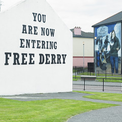 mural painting, The Bogside, Derry/Londonderry, Northern Ireland
