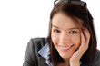Attractive business woman smiling