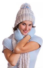 Mädchenportrait im Winter