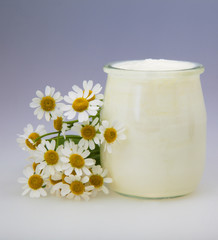 Yogurt With Chamomile Flower