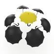3d umbrella black and yellow
