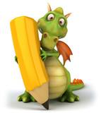 Fototapety Dragon et crayon