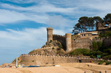 castle at the Spanish coast