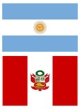 Flags of South America, Peru and Argentina