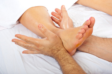 Detail of massage of foot