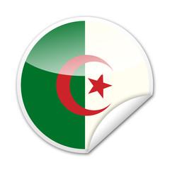 Pegatina bandera Argelia con reborde