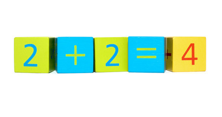 Early Learning - Building Blocks Showing Basic Maths