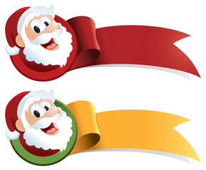 Santa Claus Christmas Web Ribbon