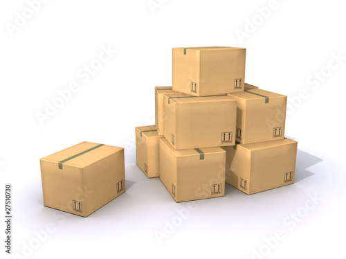Karton Stapel - Pile of Cardboard Boxes