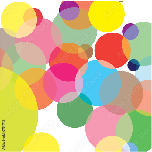 Abstraction from circles. Vector illustration