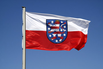 Flagge des deutschen Bundeslandes Thüringen