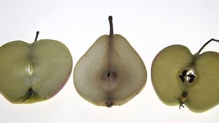 Äpfel und Birnenscheiben