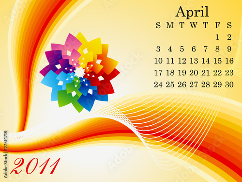 abstract april calendar