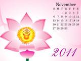 abstract november calendar poster