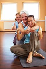 Erfolgreicher Yoga-Kurs