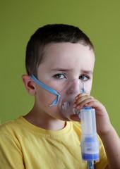Nebuliser therapy, inhalation mask